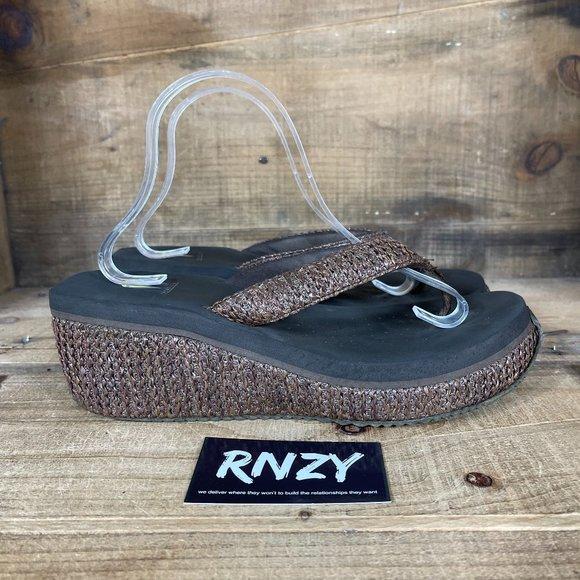 Volatile Tanorama Wedge Flip Flop Sandals